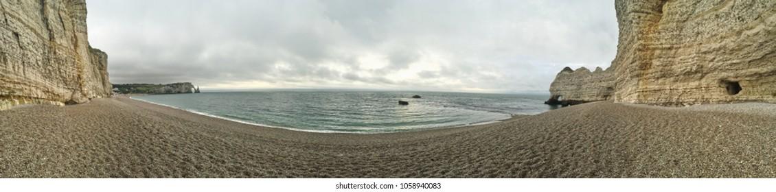 Etretat Coastline Panorama