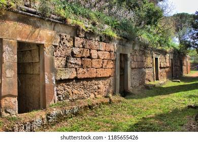 Etruscan necropolis of Cerveteri, Italy