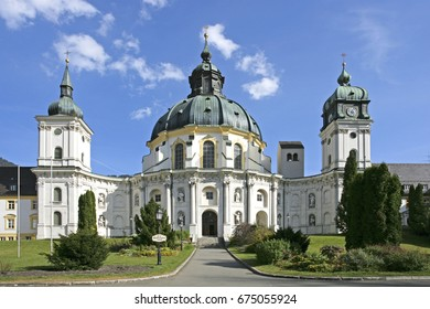 Ettal Abbey monastery church near Oberammergau, Upper Bavaria, Bavaria, Germany, Europe