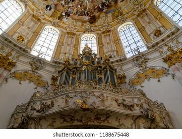 The Ettal Monastery in Oberammergau, Germany-September 16,2018
