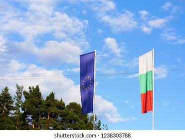EU and BG flag