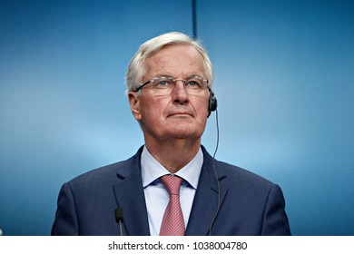 EU Chief Negotiator for the United Kingdom Exiting the EU Michel Barnier gives a Press conference at the end of European general affairs council on Article 50 in Brussels, Belgium on Jan. 29, 2018.