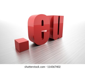 Eu domain rendered red