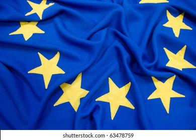 EU Flag Close Up