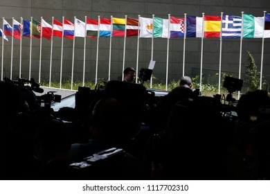 The EU headquarters at the Kirchberg Conference Centre in Luxembourg on Jun. 21, 2018