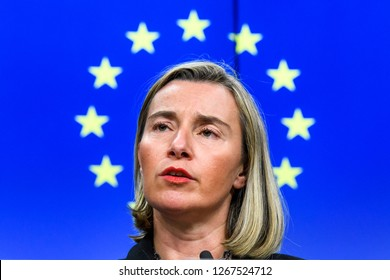 EU High Representative for Foreign Affairs and Security Policy Federica Mogherini in Brussels, Belgium, 17 December 2018.