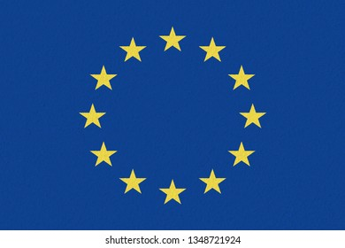 EU paper flag. Patriotic background. Europe flag