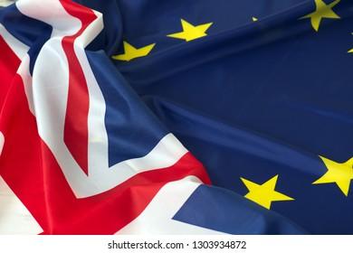 eu and uk flag brexit