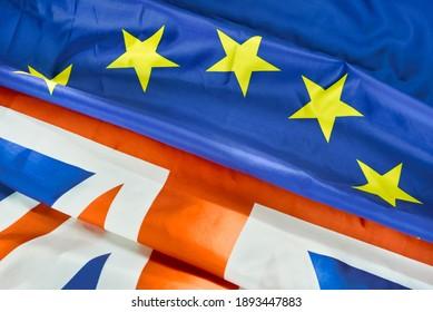 eu and uk flag brexit symbol