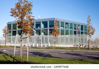 eu_LISA new building in Tallinn, Estonia -- October, 2018: headquarters for European Agency for the operational management of large-scale IT systems in the area of freedom, security and justice.