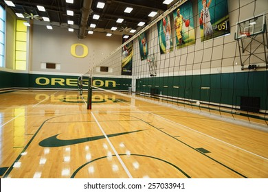 EUGENE, OR - February 20, 2015: Matthew Knight Arena on the University of Oregon campus.Volleyball & Basketball pavilion.