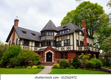 EUGENE, OR - MAY 13, 2015: Large sorority in a mansion on the University of Oregon campus in Eugene.