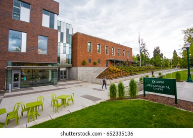 EUGENE, OR - MAY 17, 2017: New Erb Memorial Union building completed for the 2016-2017 school year at the University of Oregon.
