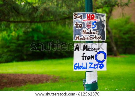 EUGENE MAY 9 2015 Protest Sign Stock Photo (Edit Now