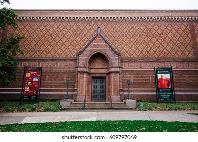 EUGENE, OR - OCTOBER 25, 2016: Jordan Schnitzer Museum of Art located on the University of Oregon campus in Eugene.