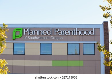 EUGENE, OR - OCTOBER 4, 2015: Logo closeup of Planned Parenthood of Southwestern Oregon located in Eugene.