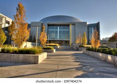 Eugene, Oregon - 11/2/2011: The Matthew Knight sports Arena on the University of Oregon campus in Eugene.