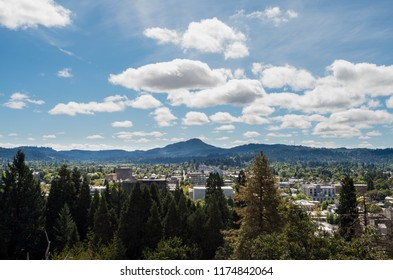 Eugene Oregon also known as Track Town USA located in the Pacific Northwest. Home of the University of Oregon college.