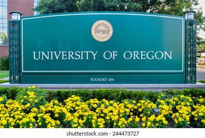 Eugene, Oregon, USA - Aug. 11, 2013: The University of Oregon. Founded in 1876, the University of Oregon is a public flagship research university located in Eugene, Oregon, USA.