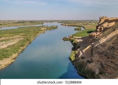 Euphrates River in Syria near Dura Europos historic site