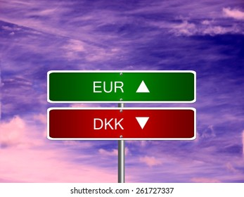 Eur Dkk Symbol Icon Down Currency Stock Photo Edit Now 246945979