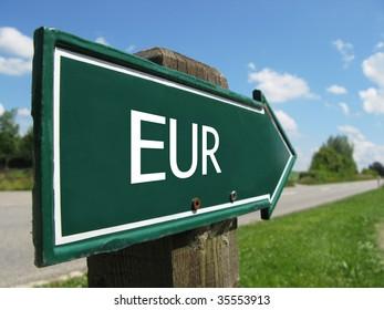 EUR road sign