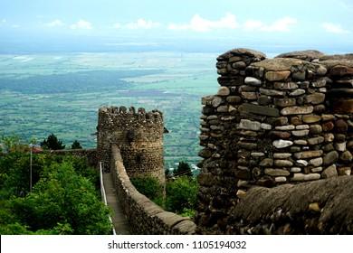Eurasia Georgia Signagi medieval stone walls