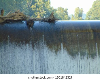 Eureka, OH/USA, 9/9/2019 Robert C. Byrd Lock and Dam, OH River and Riverbank