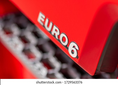 Euro 6 truck sign on the side