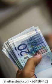 Euro Bank notes in hands