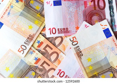 euro banknote mix background