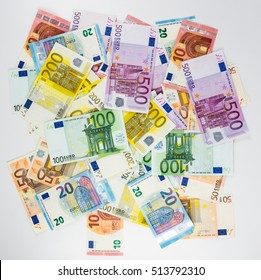 euro banknote money finance cash on white background