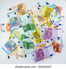 euro banknote money  finance concept cash on white background