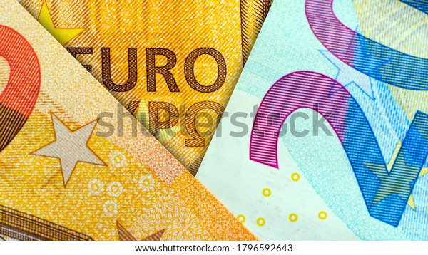 Euro banknotes background.  Euro Banknotes. Paper money. Business concept