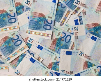 Euro banknotes (EUR) - currency of the European Union
