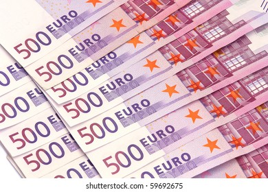 Euro banknotes  isolated on white background