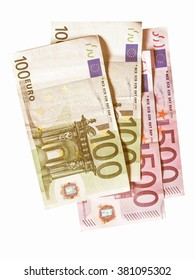 Euro banknotes money european currency vintage