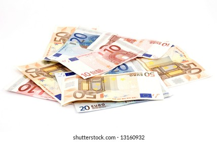 euro banknotes money studio isolated