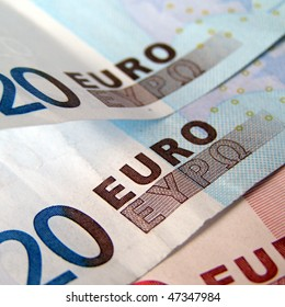 Euro banknotes money useful as a background