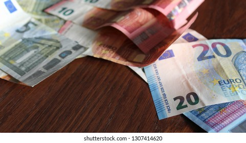 euro banknotes on the table