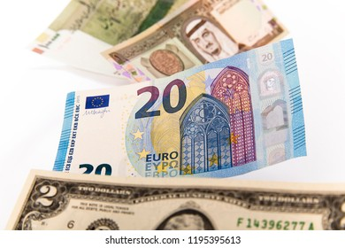 Euro between currencies of other countries