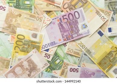 Euro BIlls Horizontal Background