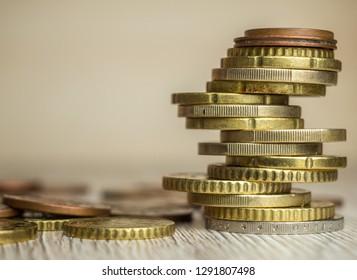 Euro Cent Finance Coins