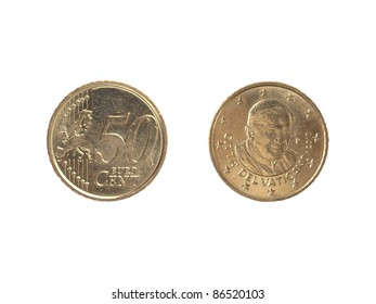 Greek Old 20 Cents Coin Dated Stock Photo (Edit Now