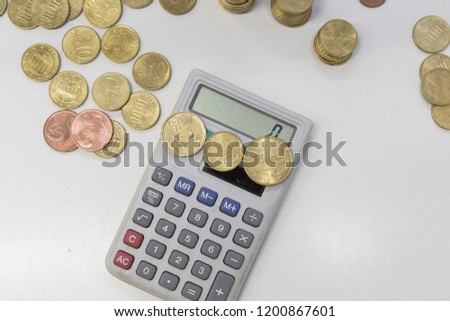 Euro Coins With Calculator 1 Cent To 50 Cents