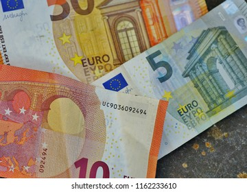 Euro currency in banknotes