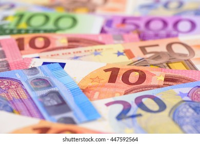 Euro currency and banknotes