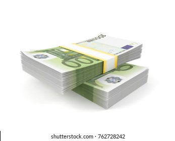 Euro currency isolated on white background. 3d illustration