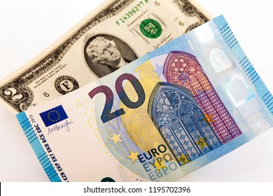 Euro and dollar