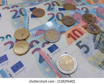 Euro (EUR) banknotes - legal tender of the European Union